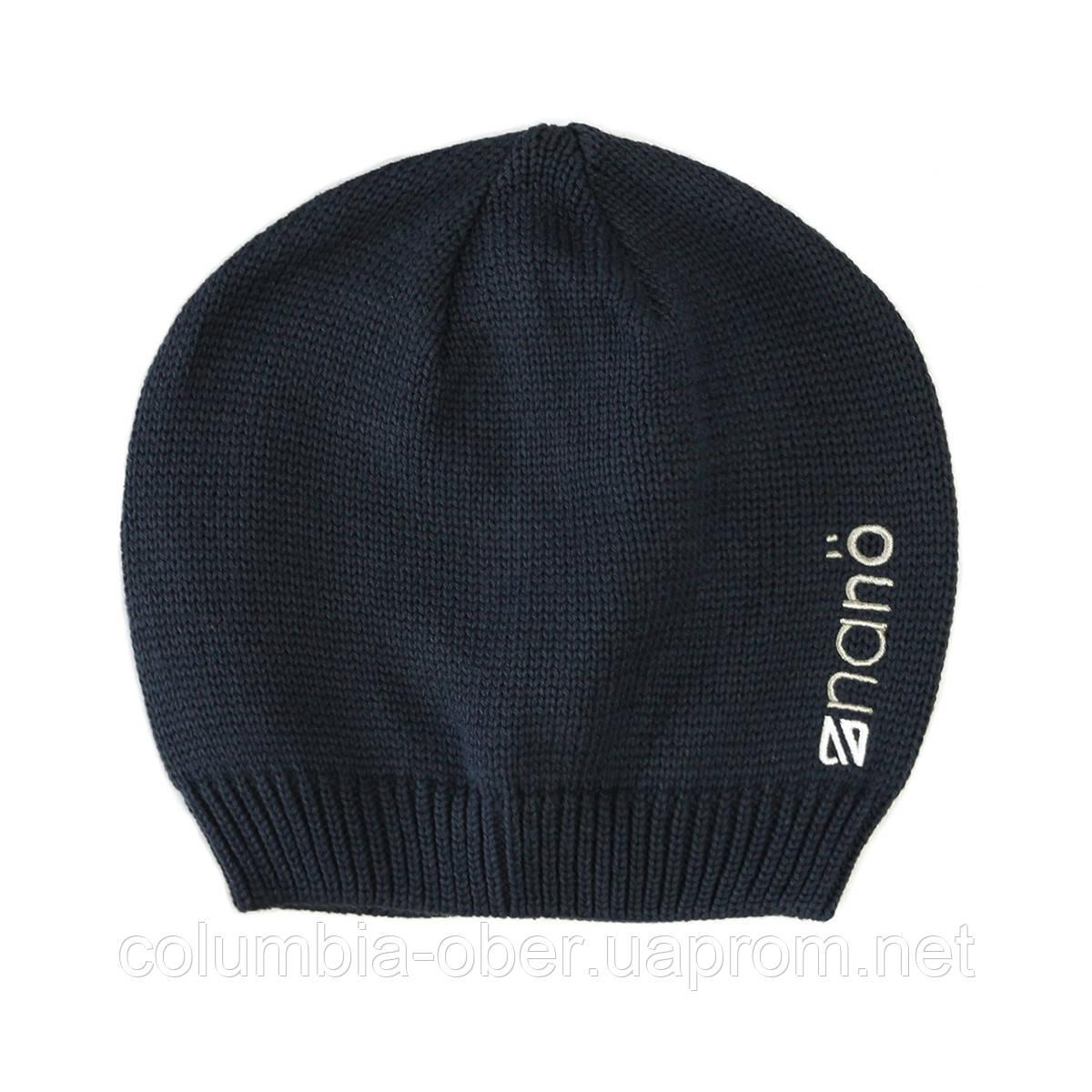 Демисезонная шапка  для мальчика  NANO 200 BTUT S17 Navy. Р-р  2/4х - 7/12.