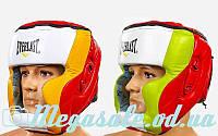 Шлем боксерский с полной защитой Elast 010 кожа (шлем бокс): L/XL