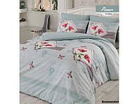Комплект постельного белья Arya Flower (голубой) 1,5 - спальный
