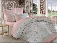 Комплект постельного белья Arya Beril (пудра) 2 - спальный