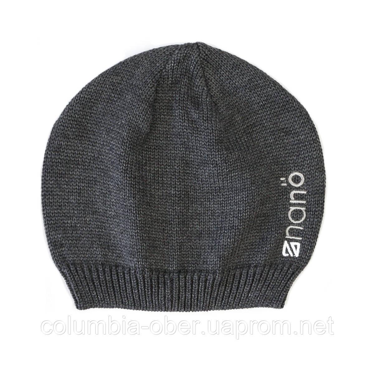 Демисезонная шапка  для мальчика  NANO 200 BTUT S17 Dark Grey Mix. Р-р  2/4х - 7/12.