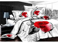 Комплект постельного белья Arya Violin (белый) 1,5 - спальный