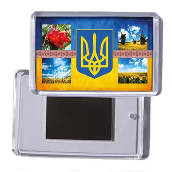 """Украинский  сувенирный магнит """"Украинская символика"""""""