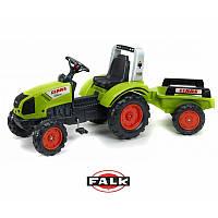 Детский педальный трактор Claas Arion 430 с прицепом Falk 1040AB