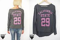 Свитшот стильная кофта CALIFORNIA STATE 29 свитер графитовый