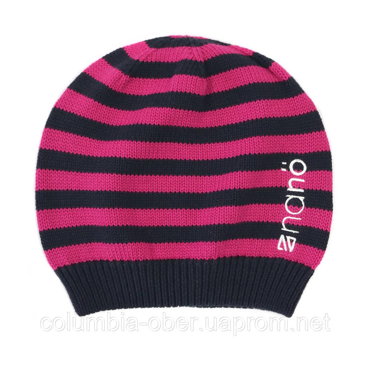 Демисезонная шапка для девочки NANO 254 TUT S17 Flower. Размер 2/4х - 7/12.
