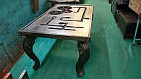 Столик Индустриальный квадратный Механика. Дизайнерский железный стол. Ручная работа. Сделано в Индии.