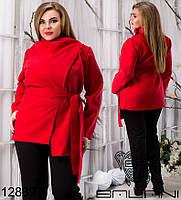 Пальто демисезонное с поясом, р 48-54