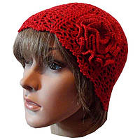 Женская вязаная шапочка от солнца,  ручной работы