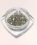 Стразы стеклянные AB, радужные 200 шт. в баночке (аналог Swarovski), ss4 , фото 2