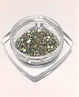 Стразы стеклянные AB, радужные 100 шт. в пакетике (аналог Swarovski), ss3