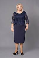 Модное платье с гипюром большого размера