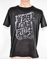 Мужская футболка оптом  цвет черный