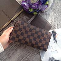 Женски кожаный кошелек Louis Vuitton брендовый кошелек копия кошелька LV