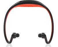 Спортивные Bluetooth наушники / MP3 плеер, красные