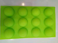 Силиконовая форма Полусферы 12 шт для муссовых десертов