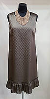 Летнее атласное платье бронзового цвета Pamela (Италия)
