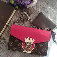 Женский кожаный клатч Louis Vuitton женский кожаный кошелек Louis Vuitton