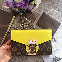 Женский кожаный кошелек Louis Vuitton женский кожаный клатч Louis Vuitton