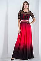 Платье вечернее нарядное в пол с гипюром, фото 1