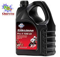 """Синтетическое эфирное моторное масло """"Silkolene PRO 4 10W-40 XP', 4л"""