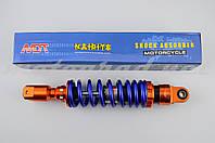 """Амортизатор GY6, DIO, TACT 270mm, тюнінговий """"NDT"""" (оранжево-синій)"""