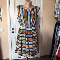 Платье летнее яркое короткое без рукава Mela London