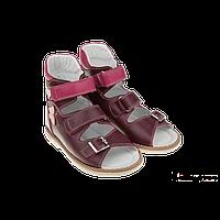 Детские ортопедические босоножки для девочек «Хайди»,бордовые ТМ Ботики (25-30 р-р)