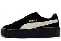 Женские кроссовки  Rihanna x PUMA Creeper (Black/White)