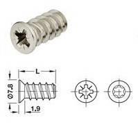 """Винт """"Varianta ASP"""" 5х13,5 мм, никелированная сталь 013.15.724"""
