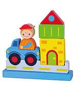 "Пазл Viga Toys ""Город"", развивающие пазлы, деревянные пазлы, 3D магнитные пазлы"