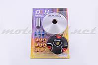 """Вариатор передний (тюнинг) Yamaha JOG 50 (d-13mm, рол. латунь 9шт, палец, пр. сцепления) """"DLH"""""""