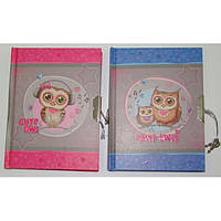 Блокнот на замке для девочки Совы 60 листов, формат А6