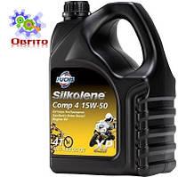 """Синтетическое эфирное моторное масло """"Silkolene Comp 4 15W-50 XP', 4л"""