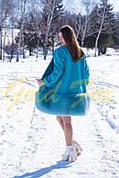 Пальто кашемир с мехом песца + шерсть