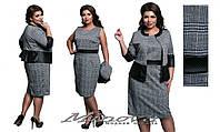 Комплект женский платье + жакет в клетку