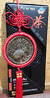 Подвеска - медальон из чая Пуэр КРОЛИК знак зодиака и китайский узел,фэн-шуй,подарок, сувенир, Китай