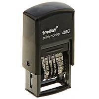 Минидатер 4810 Bank TRODAT,  цвет: черный, высота символов: 3,8 мм, цифровой, Австрия