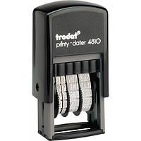Минидатер 4810 Lat TRODAT,  цвет: черный, высота символов: 3,8 мм,  латинский, Австрия
