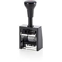 Нумератор автоматический REINER, корпус: металл + пластик, цвет: черный, высота символов: 5,5 мм, разрядность: 6 симв., шрифт: antigue, Германия
