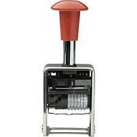 Нумератор автоматический 5756/м TRODAT, корпус: металл, цвет: красный/серый, высота символов: 5,5 мм, разрядно