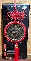 Подвеска - медальон из чая Пуэр СОБАКА знак зодиака и китайский узел,фэн-шуй,подарок, сувенир, Китай