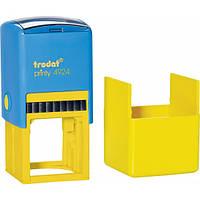 Оснастка для круглой печати и квадратного штампа TRODAT Printy 4940/4924  40х40 мм, корпус: желто/голубой