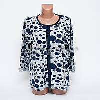 Кофта блуза женская батал Капелька p.52-54 цвет серый B7-4