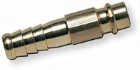 Штуцер быстроразъёмного соединения (папа) латунный с соединением для шланга 6 мм