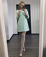 Платье с карманами из твида  . Платья. Купить платье. Магазин одежда. Платье фото.Одежда  каталог.