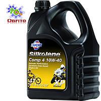 """Синтетическое эфирное моторное масло """"Silkolene Comp 4 10W-40 XP', 4л"""