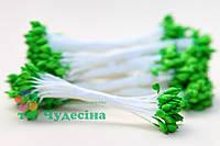 Тычинки Тайские,зеленые,каплевидные,белая нить