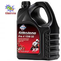"""Синтетическое эфирное моторное масло """"Silkolene PRO 4 15W-50 XP', 4л"""