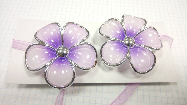 Магниты для штор Цветы  (пара) V1, фото 2